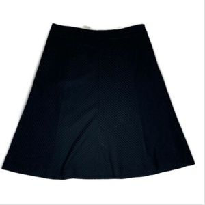 Banana Republic a line cotton skirt black size 4